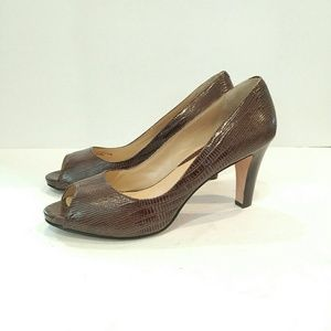 COLE HAAN Snake Leather Pumps 8.5 B Heels